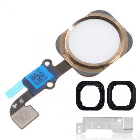"Gold & White Home Button Assembly Replacement for iPhone 6 Plus 5.5"" With Seal & Bracket - FormyFone.com  - 1"