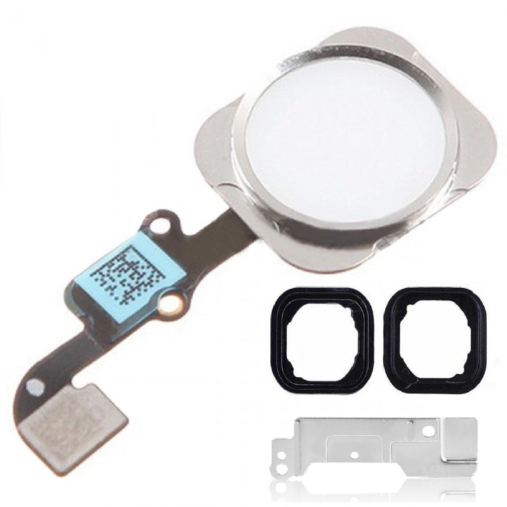 White & Silver Replacement Home Button for iPhone 6 with Seal & Bracket - FormyFone.com  - 1