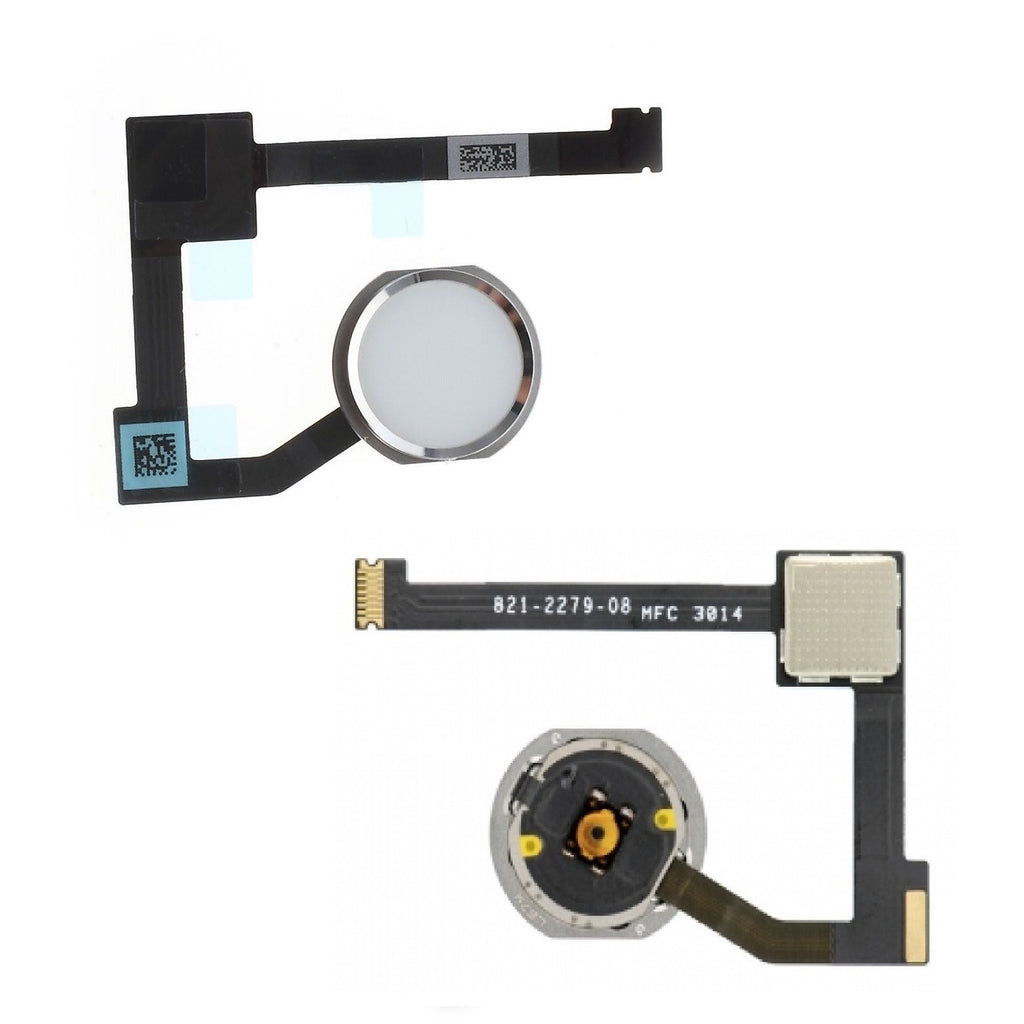 White iPad Air 2 Home Button w flex Cable Replacement Part