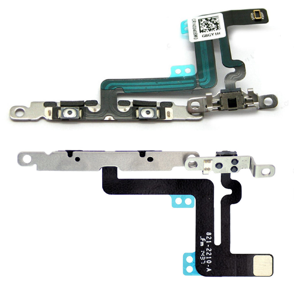 Volume Buttons & Mute Switch Flex Cable Replacement With Brackets for iPhone 6 Plus - FormyFone.com  - 1