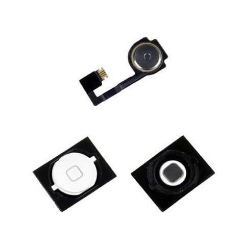 White Home Button With Flex Cable Replacement for iPhone 4S - FormyFone.com