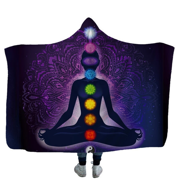 Hooded Blanket Meditative Wearable Throw Blanket (FSC)
