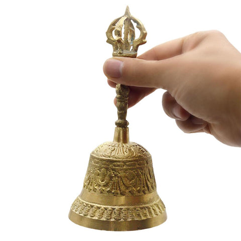 Buddhist Meditation Bell And Dorje Set Shiplies Extra Loud Multi-Purpose