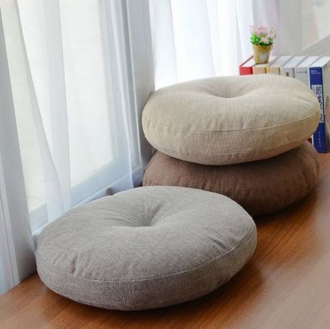 Futon Cushions Thick Circular Large Fabric Floor Meditation Japanese-style