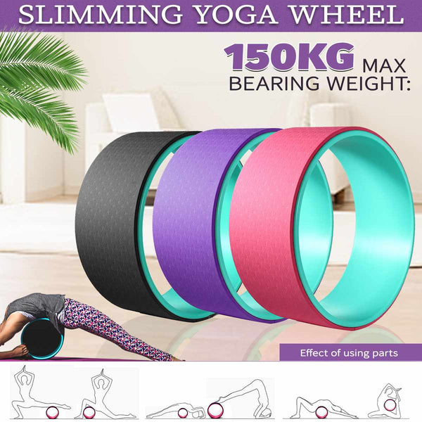 "Yoga 13""  Yoga Prop Wheel, for Stretching (FS)"