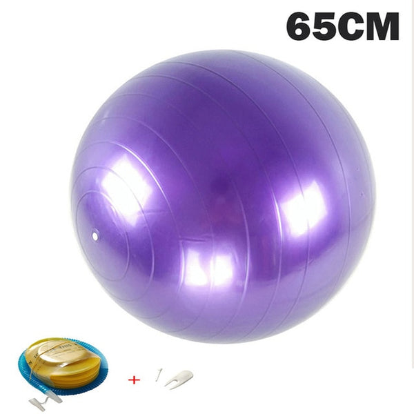 Yoga Balls Pilates Fitness Fitball Exercise 55/65/75/85CM with pump
