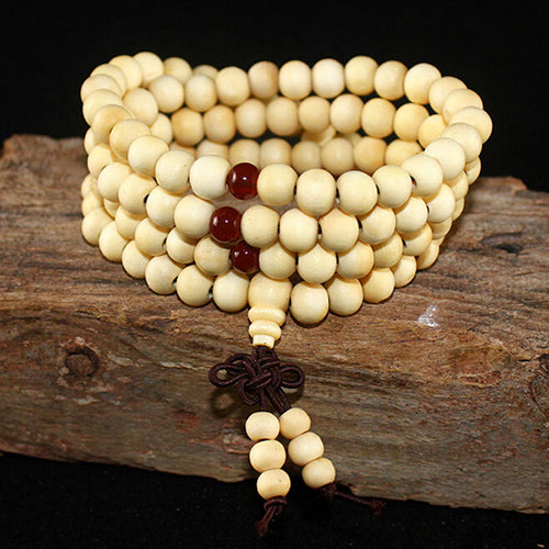 108*8 mm Beads Sandalwood Buddhist Wood Bracelets Women/Men Jewelry