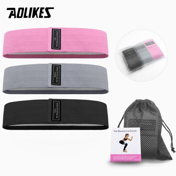 Fitness Hip Loop Resistance Bands Anti-slip Squats Expander (FSC)