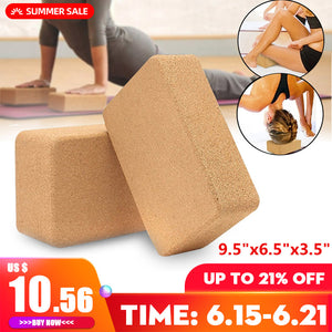 Yoga 1 Block High Density Cork Size: 16.5cm x 24cm x 9cm (FSC)