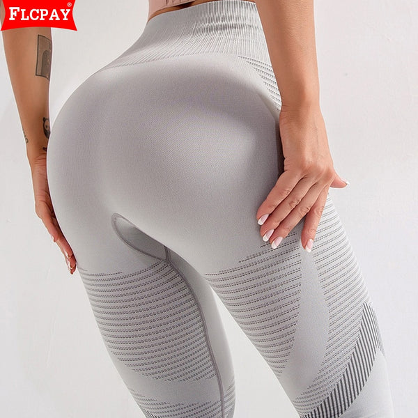 Yoga High Waist Seamless Workout Leggings Pants and Bands (FS)