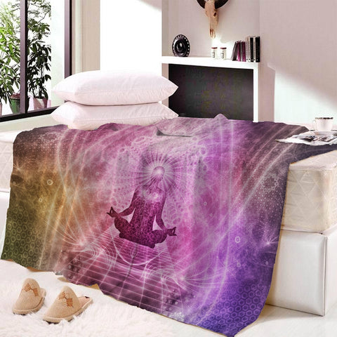 Blanket Yoga Throw Meditation Warm Microfiber (FSC)