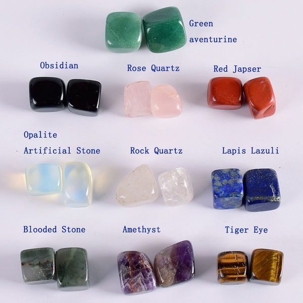 20 pieces 10-15mm Natural Tumbled Stone 10 kinds Chakra Gemstone Rock Mineral