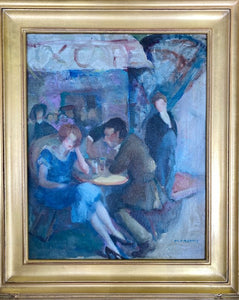 """Cafe at Night""  by Marjorie Nickles Adams   20"" x 16"" Oil on canvas"