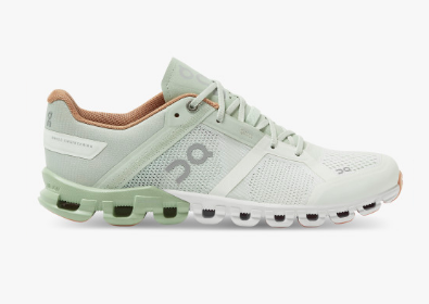 On Cloudflow Aloe/White Womens