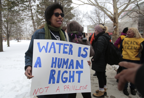water industry protest