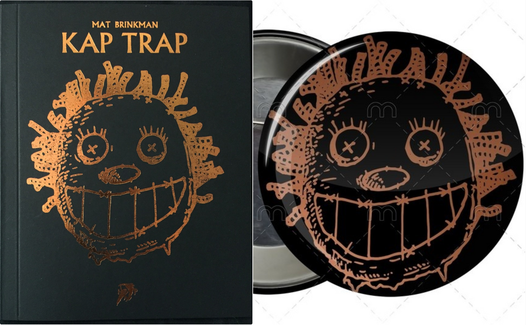 "KAP TRAP + ""CREEPY IS FUNNY"" large pin"