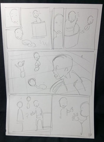 Day of the Flying Head #2 - storyboard page 10