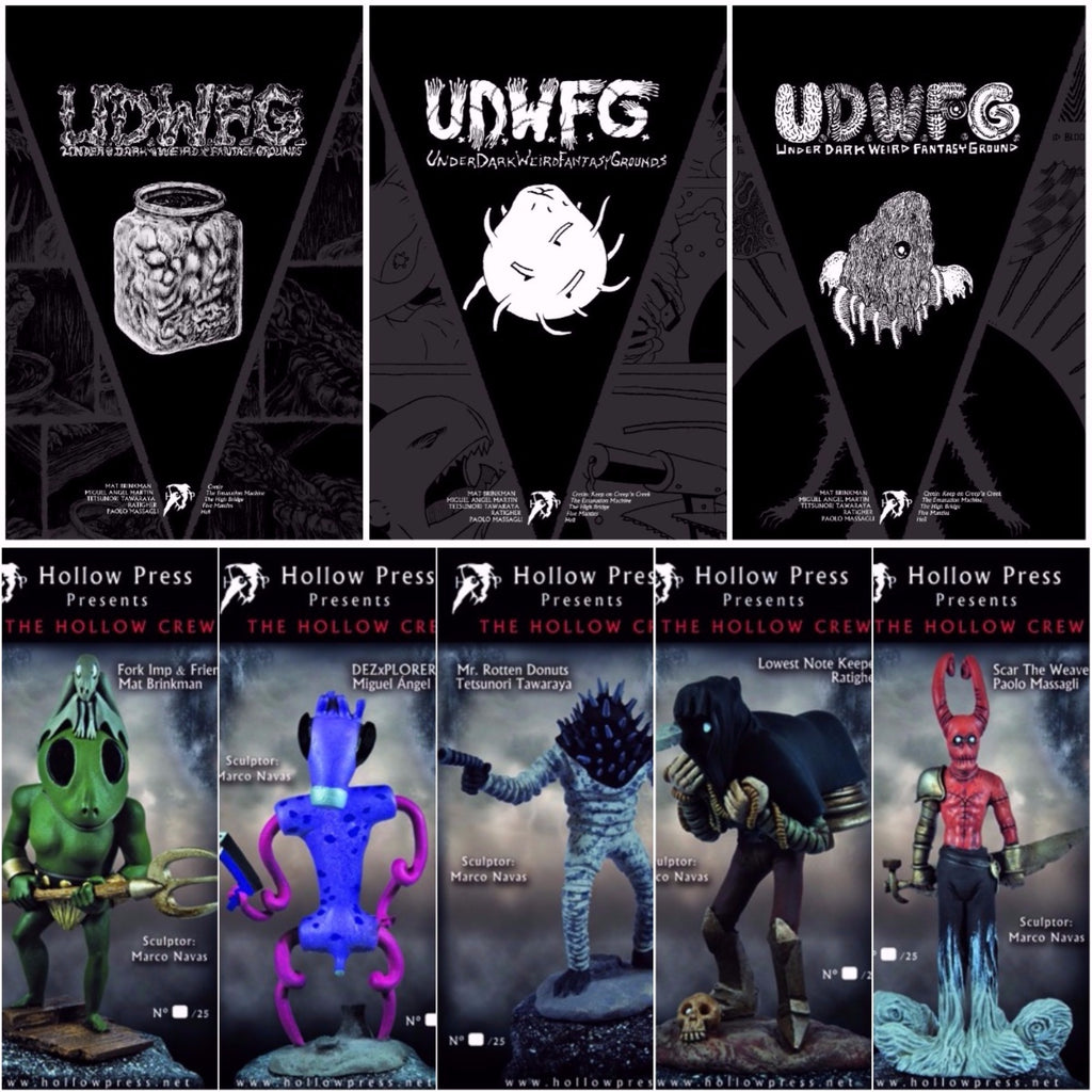 U.D.W.F.G. complete set vol. 1-2-3 + Hollow Crew complete figure set