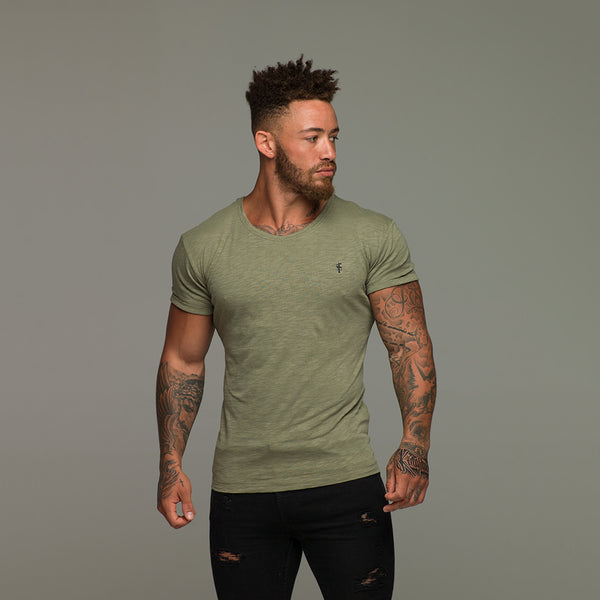 Father Sons Khaki Slub Crew - FSH052