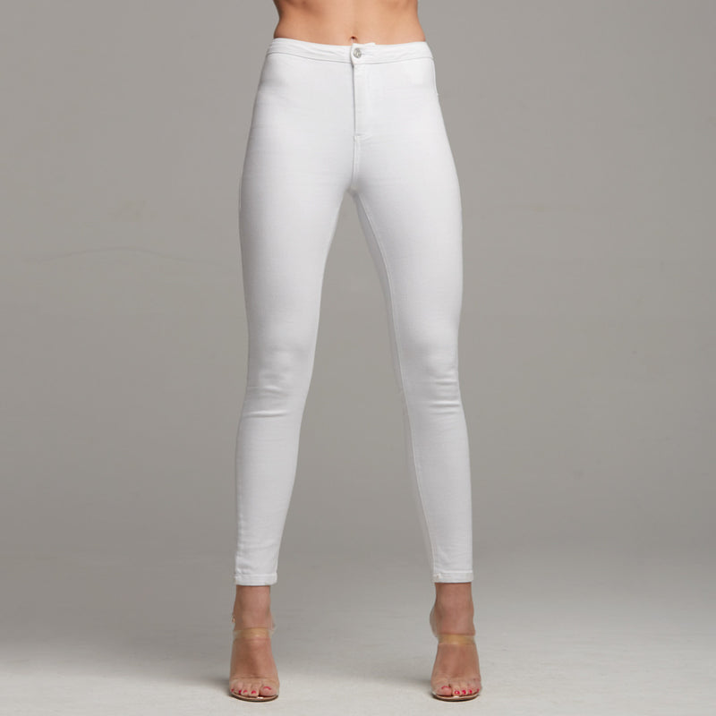 JENI PLAIN WHITE JEANS - CT058