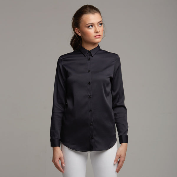 PLAIN JANE NAVY SHIRT - CT008