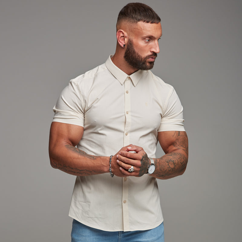 Father Sons Super Slim Stretch Classic Sand Short Sleeve - FS239