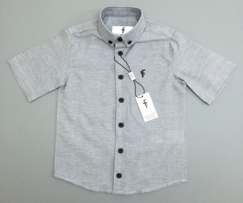 Father Sons Boys Grey Oxford Contrast - FSB004