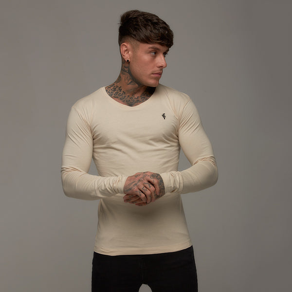 Father Sons Classic Sand Long Sleeve Crew  FSH065