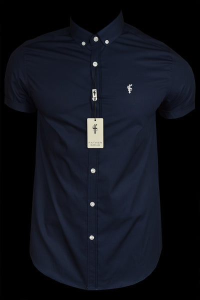 Father Sons Classic Navy Short Sleeve Fs034