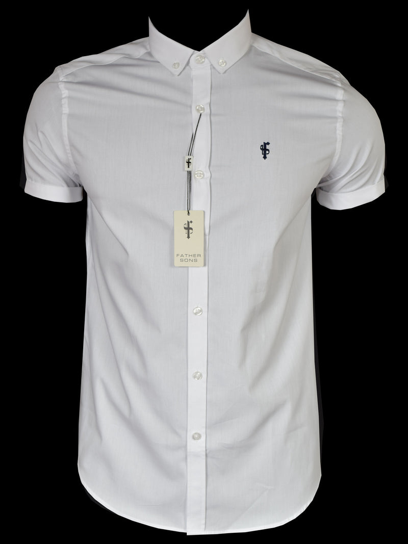 Father Sons Classic White Short Sleeve - FS044