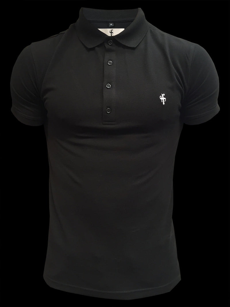 Father Sons Classic Black Polo Shirt - FSH041