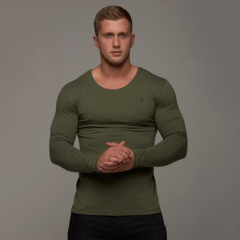 Father Sons Classic Khaki Long Sleeve Crew   FSH063