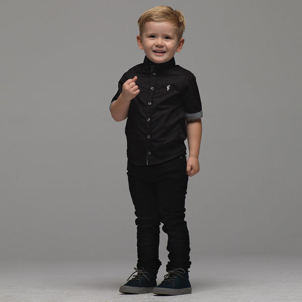 Father Sons Boys Classic Black & Grey Contrast - FSB011