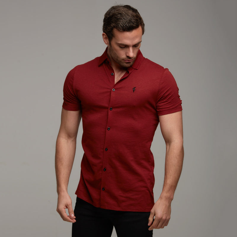 Father Sons Super Slim Oxblood Jersey Short Sleeve - FSH012