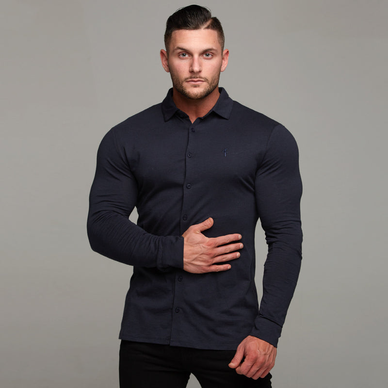 Father Sons Super Slim Navy Jersey - FSH07