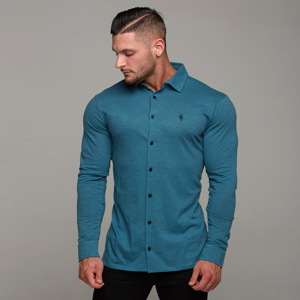 Father Sons Super Slim Teal Jersey - FSH120