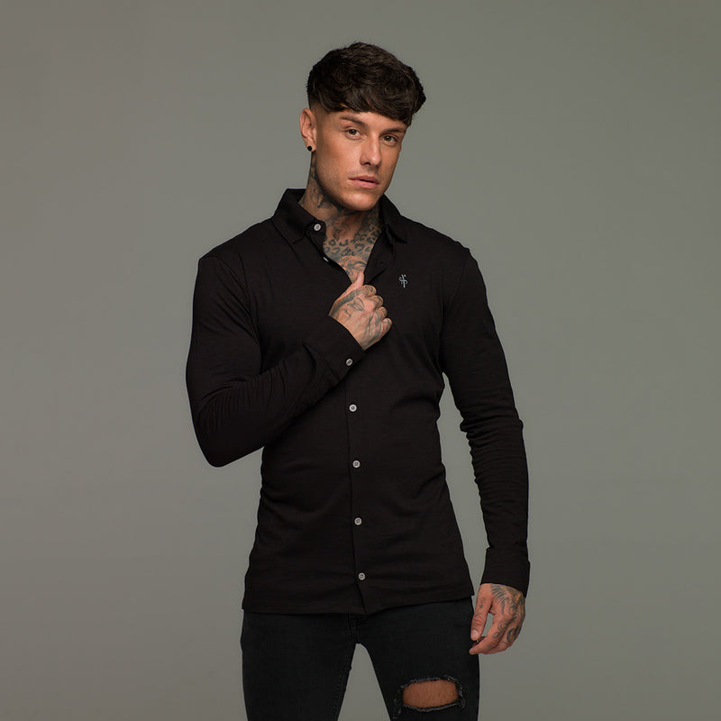 Father Sons Super Slim Black Jersey - FSH09