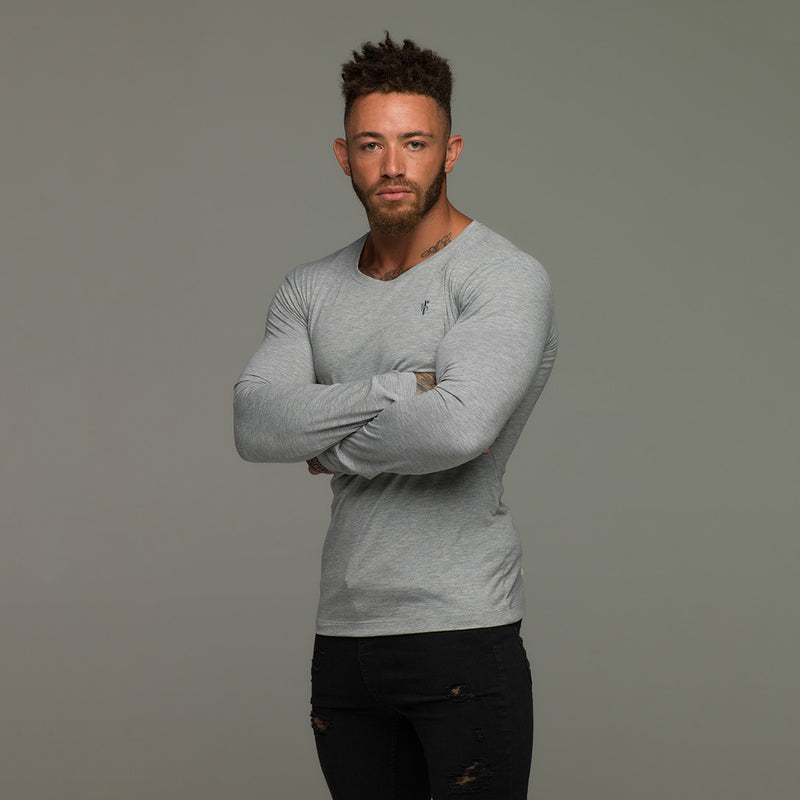 Father Sons Classic Grey Long Sleeve Crew   FSH069