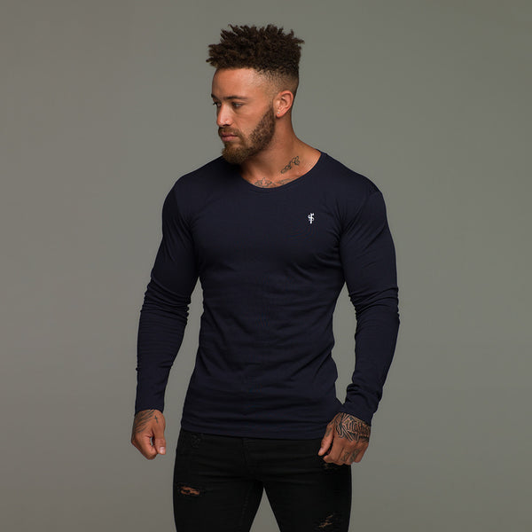 Father Sons Classic Navy Long Sleeve Crew   FSH064