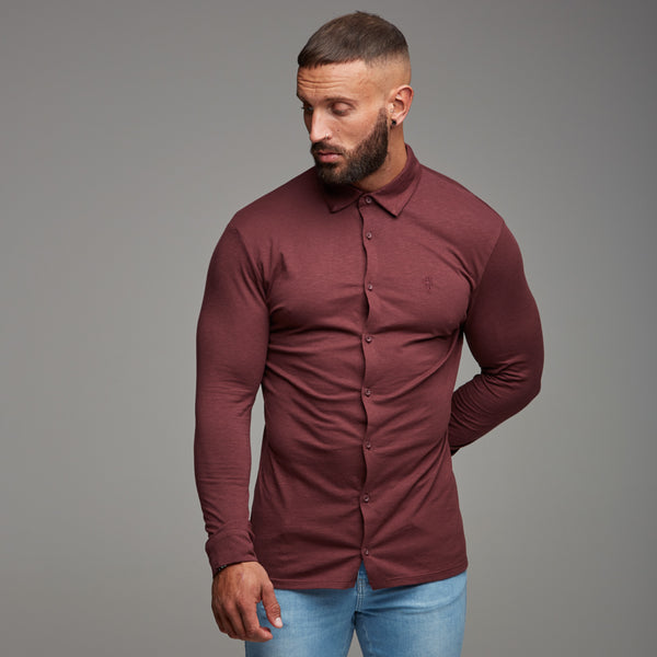Father Sons Super Slim Burgundy Jersey - FSH010