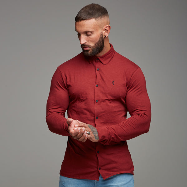 Father Sons Super Slim Oxblood Jersey - FSH03