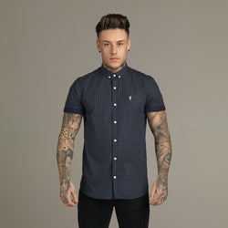 Father Sons Green & Navy Tartan Short Sleeve - FS082