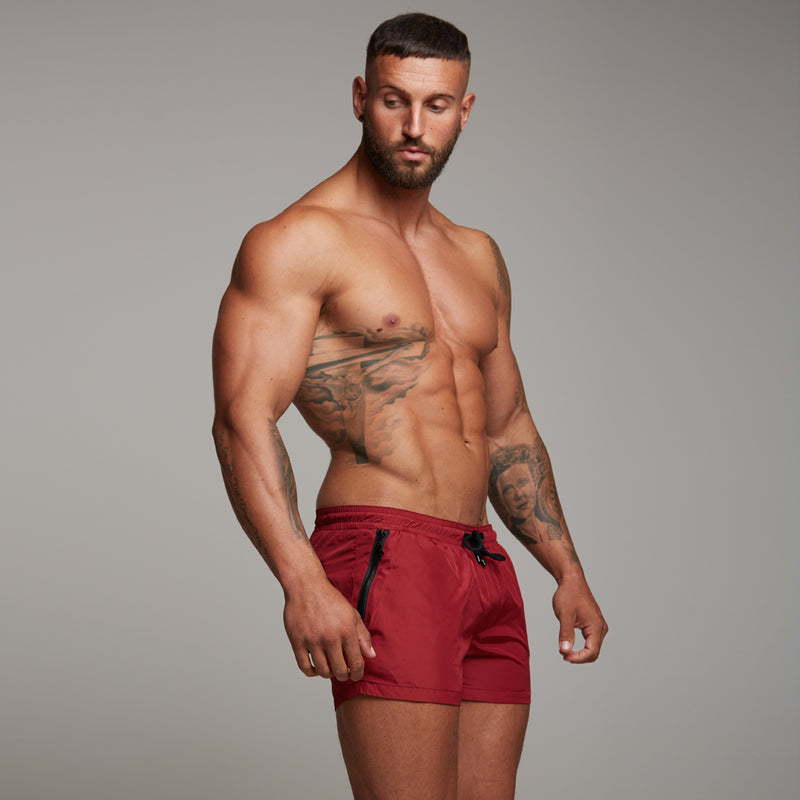 Father Sons Oxblood Swim Shorts - FSH149