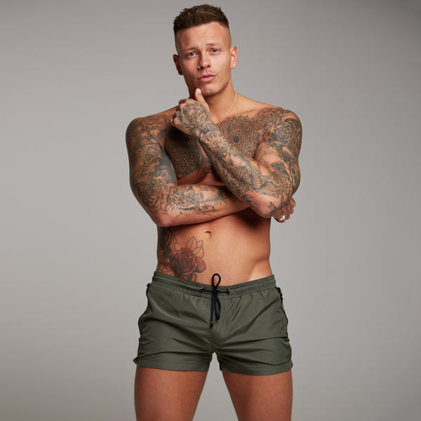 Father Sons Khaki Swim Shorts - FSH151