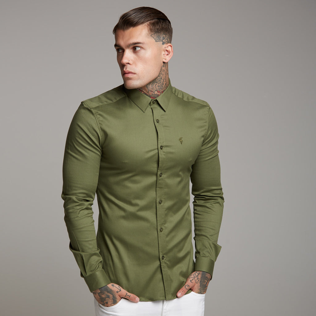 Father Sons Super Slim Stretch Classic Khaki Grandad