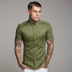 Father Sons Super Slim Luxe Ultra Stretch Classic Khaki Short Sleeve -  FS338