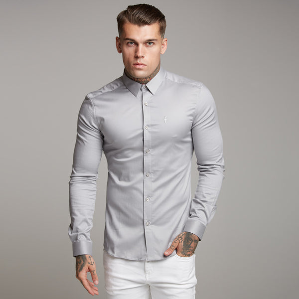 Father Sons Super Slim Luxe Ultra Stretch Light Grey -  FS333