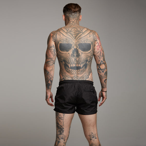 Father Sons Black Swim Shorts - FSH152