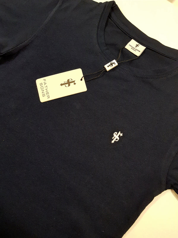 Father Sons Boys Classic Navy Crew - FSB026