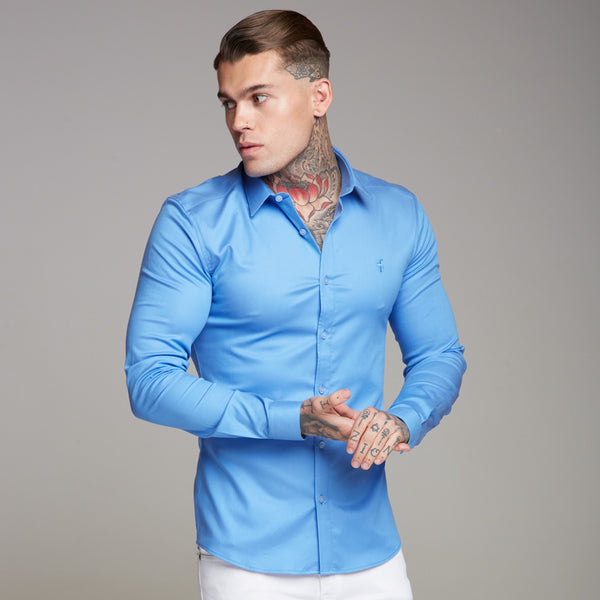 Father Sons Super Slim Luxe Ultra Stretch Light Blue Long Sleeve -  FS350